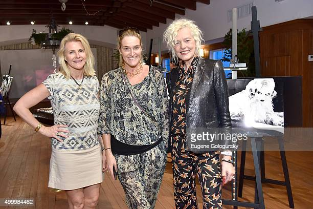 Nina Junot Angelina Jolin and Ellen Von Unwerth attend the MAISON MONTAIGNE PARIS And OMAR'S Host Enchanted Hours At Exclusive PopUp at Omar's Cabana...
