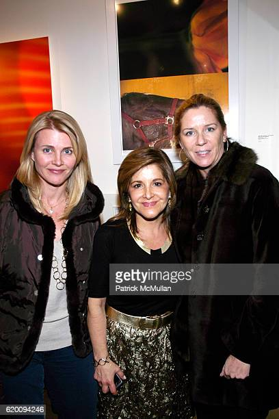 Nina Junot Leila Heller and Sarah Senbahar attend LEILA TAGHINIA MILANI HELLER GALLERY Grand Opening Exhibition at LTMH Gallery on February 28 2008...