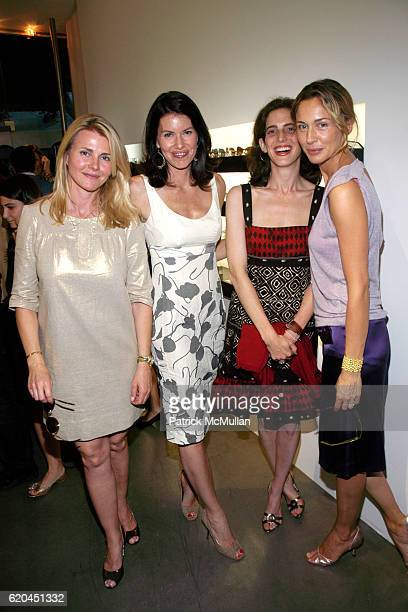 Nina Junot Ulrica Lanaro Eliza Bolen and Charlotte Assaf attend MODO Opens First Global Flagship Store at MODO Downtown Store on June 5 2008 in New...