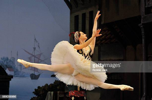 Nina Kaptsova in the Bolshoi Ballet's production of Alexei Ratmansky's reworking of Marius Petipa's Le Corsaire at The Royal Opera House on August...