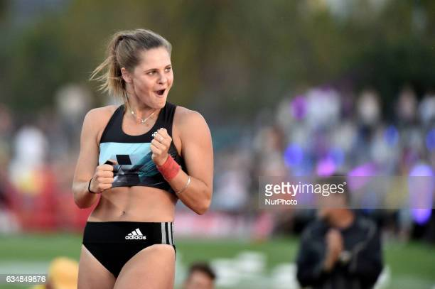 Nina Kennedy of the Bolt All Stars during the Pole Vault at Nitro Athletics at Lakeside Stadium on February 11 2017 in Melbourne Australia