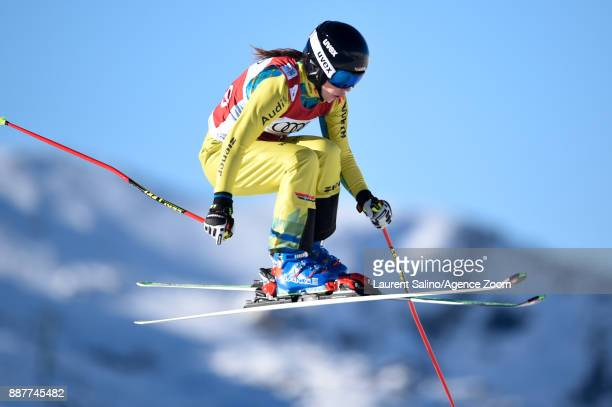 Nina Kloe of Germany during qualifications during the FIS Freestyle Ski World Cup, Men's and Women's Ski Cross on December 7, 2017 in Val Thorens,...