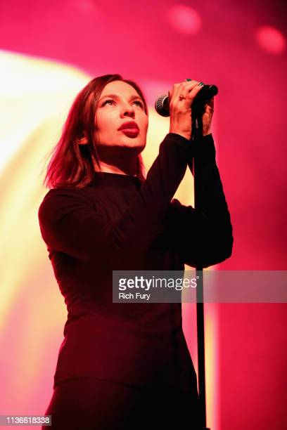 Nina Kraviz performs at the Mojave tent during the 2019 Coachella Valley Music And Arts Festival on April 12 2019 in Indio California