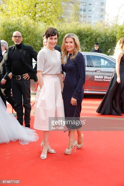 Nina Kunzendorf and Anke Engelke during the Lola German Film Award red carpet arrivals at Messe Berlin on April 28 2017 in Berlin Germany