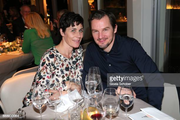 Nina Kunzendorf and Felix Klare during the ARD advent dinner hosted by the program director of the tv station Erstes Deutsches Fernsehen at Hotel...