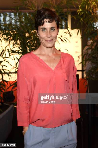 Nina Kunzendorf attends the cocktail prolonge to the semifinal round of judging of The International Emmy Awards 2017 on June 12 2017 in Berlin...