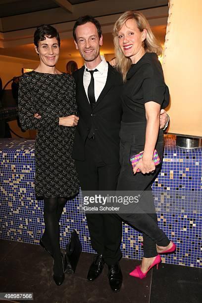Nina Kunzendorf, Joerg Hartmann and Anna Schudt during the ARD advent dinner hosted by the program director of the tv station Erstes Deutsches...