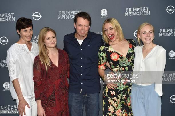 Nina Kunzendorf, Julia Jentsch, Hans-Christian Schmid, Johanna Ingelfinger and Elisa Schlott attend 'Das Verschwinden' Premiere during Munich Film...