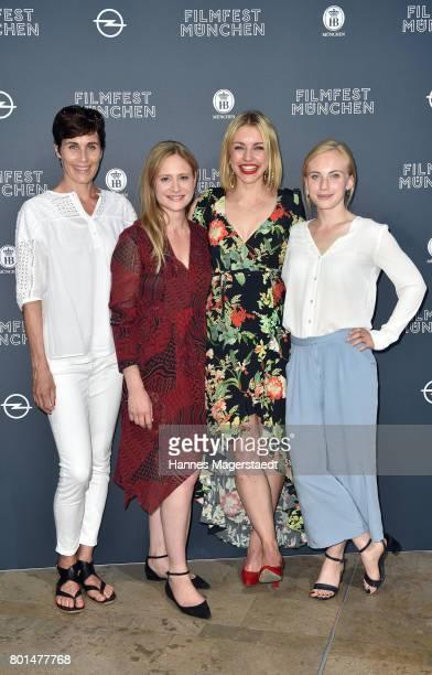 Nina Kunzendorf Julia Jentsch Johanna Ingelfinger and Elisa Schlott attend 'Das Verschwinden' Premiere during Munich Film Festival 2017 at HFF...