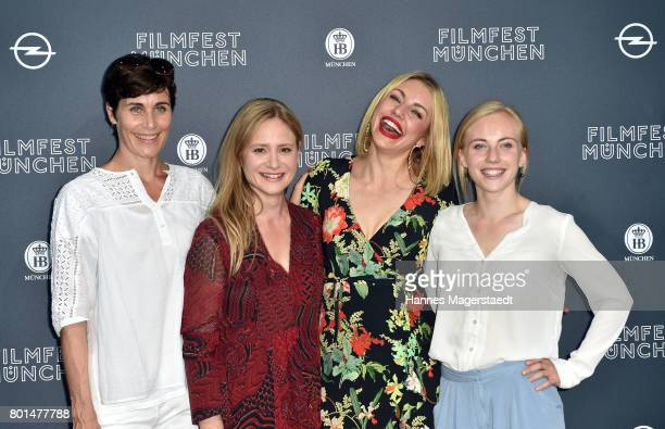 Nina Kunzendorf, Julia Jentsch, Johanna Ingelfinger and Elisa Schlott attend 'Das Verschwinden' Premiere during Munich Film Festival 2017 at HFF...