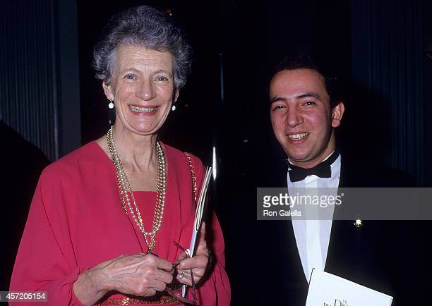 Nina Lagergren attends the Raoul Wallenberg Award Salute to Ross Perot on March 4 1987 at the WaldorfAstoria Hotel in New York City