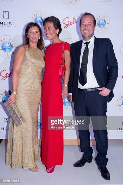 Nina lamia Duchene Xin fu Fabrice Duchene attend 2nd Annual Global Empowerment Mission Gala at 1 Hotel South Beach on April 8 2017 in Miami Florida