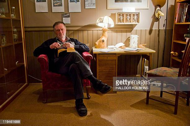 Nina LARSON A picture taken on June 28 2011 shows the founder of Iceland's Phallological Museum Sigurdur Hjartarson posing during an interview in...