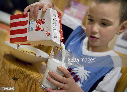 Nina Larson Picture taken on February 18 2008 shows a boy drinking milk in Stockholm Around 23 children suffering from hyperactive disorders were put...