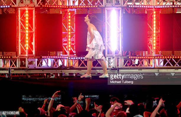 Nina Las Vegas performs onstage during day 1 of the 2016 Coachella Valley Music Arts Festival Weekend 1 at the Empire Polo Club on April 15 2016 in...