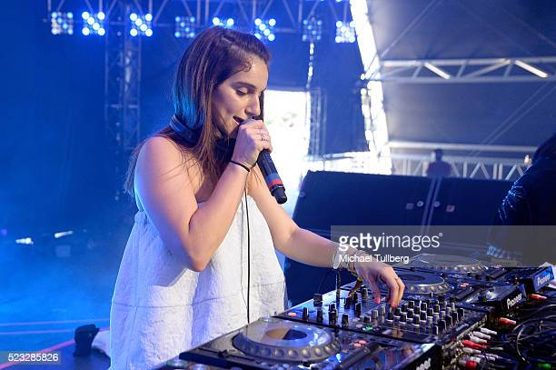 Nina Las Vegas performs onstage during day 1 of the 2016 Coachella Valley Music Arts Festival Weekend 2 at the Empire Polo Club on April 22 2016 in...