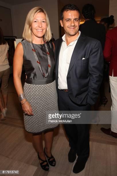 Nina Lawrence and Amedeo Scognamiglio attend SAKS FIFTH AVENUE celebrates W magazine's September Issue at Saks Fifth Avenue on September 14 2010 in...
