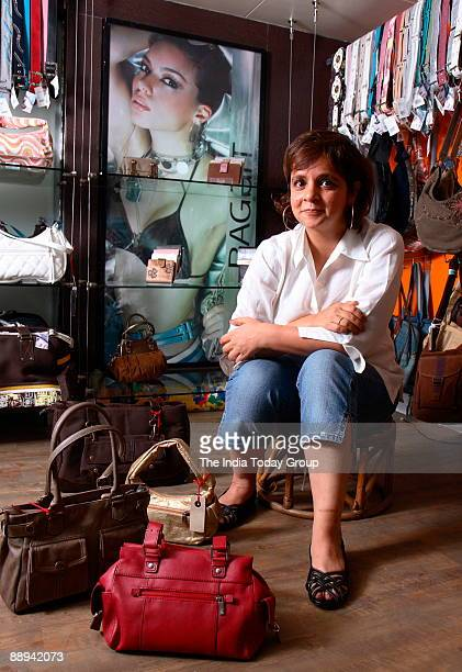 Nina Lekhi Founder Baggit Bags poses at outlet in Mumbai India Profile Sitting