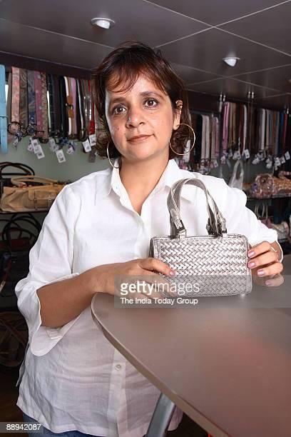 Nina Lekhi Founder Baggit Bags poses at outlet in Mumbai India Potrait