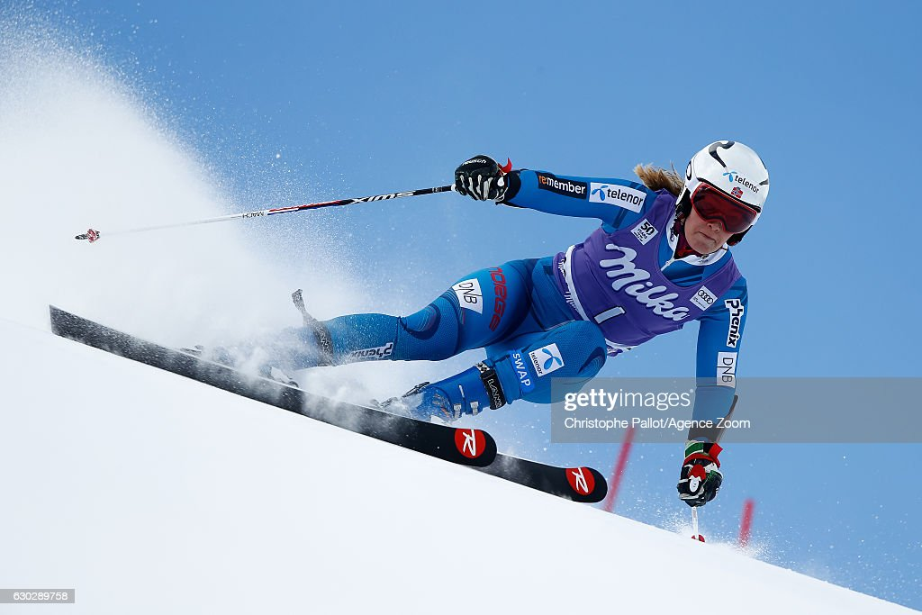 Nina Loeseth of Norway competes during the Audi FIS Alpine Ski World Cup Women's Giant Slalom on December 20, 2016 in Courchevel, France