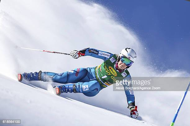 Nina Loeseth of Norway in action during the Audi FIS Alpine Ski World Cup Women's Giant Slalom on October 22 2016 in Soelden Austria