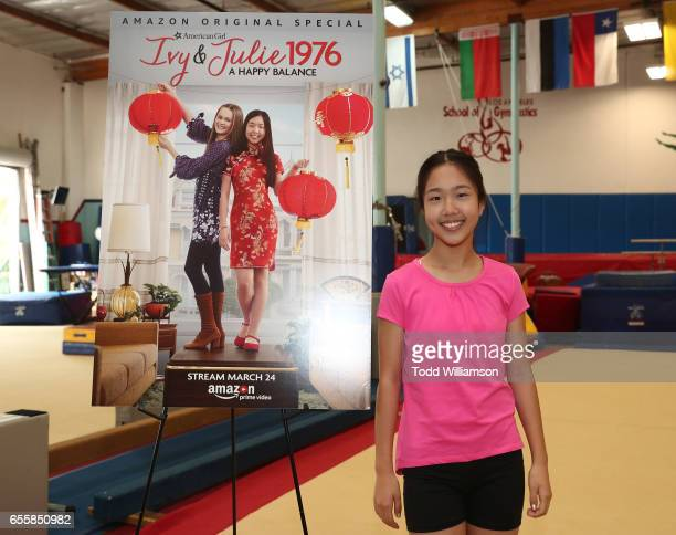 """Nina Lu attends an Amazon Original Special """"An American Girl Story - Ivy & Julie 1976: A Happy Balance"""" Photo Call with Nina Lu, Hannah Nordberg and..."""