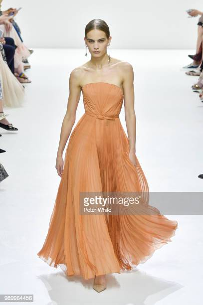 Nina Marker walks the runway during the Christian Dior Haute Couture Fall Winter 2018/2019 show as part of Paris Fashion Week on July 2 2018 in Paris...