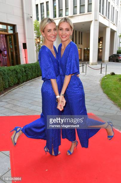 Nina Meise and Julia Meise attend the Red Summer Night by Buntede at Rocco Forte The Charles Hotel on July 09 2019 in Munich Germany