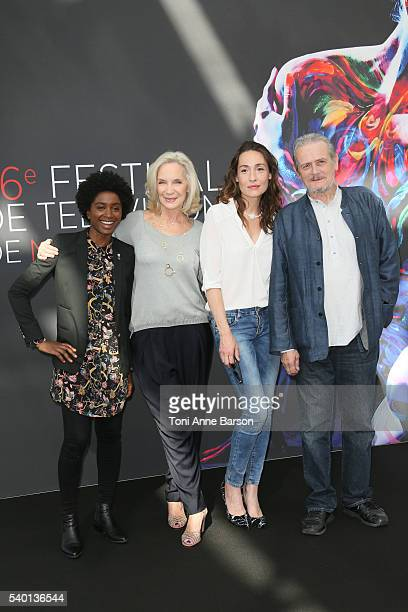 Nina Melo MarieChristine Adam Annelise Hesme and JeanFranois Garreaud and attend Nina Photocall as part of the 56th Monte Carlo Tv Festival at the...