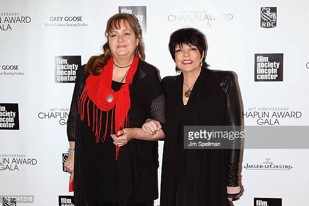 Nina Minnelli and Liza Minnelli attends the 40th Anniversary Chaplin Award Gala at Avery Fisher Hall at Lincoln Center for the Performing Arts on...