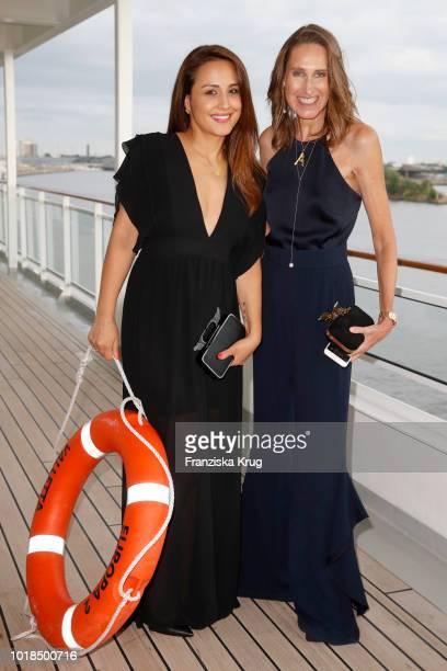 Nina Moghaddam and Annette Weber during the FASHION2NIGHT event on board the EUROPA 2 on August 17 2018 in Hamburg Germany