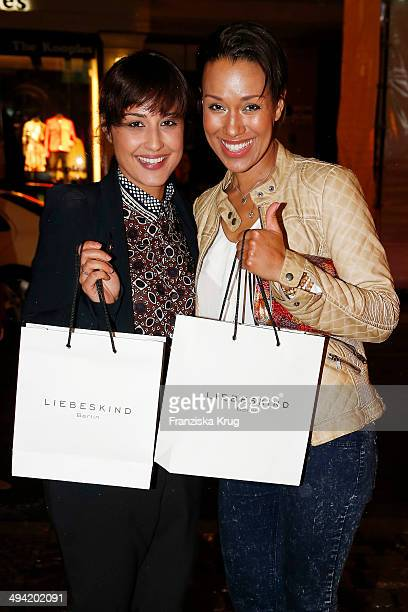 Nina Moghaddam and Dominique Siassi attend the Liebeskind Berlin Store Opening on May 28 2014 in Berlin Germany