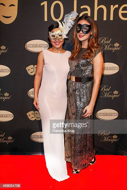 Nina Moghaddam and Janina Uhse attend the Hairfree Celebrates 10 Year Anniversary with Bal Masque on November 15 2014 in Darmstadt Germany