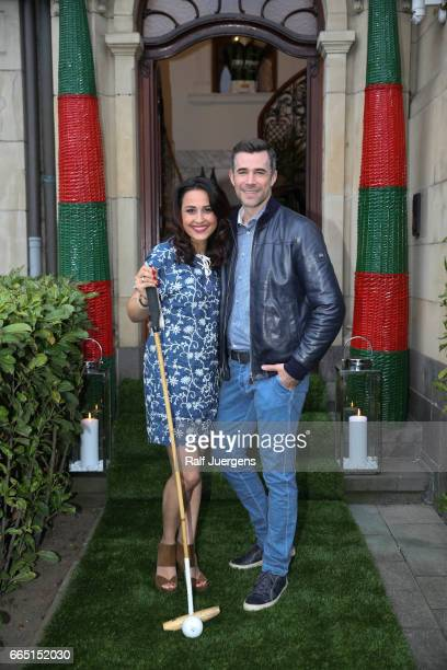 Nina Moghaddam and Jo Weil attend the La Martina get together at their showroom on April 5 2017 in Duesseldorf Germany