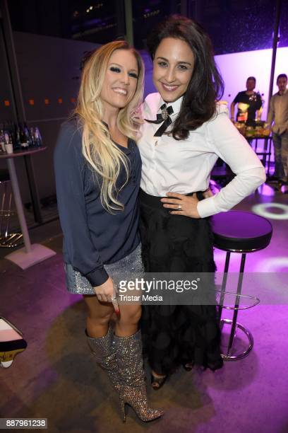 Nina Moghaddam and Natalie Horler attend the 1Live Krone radio award at Jahrhunderthalle on December 7 2017 in Bochum Germany