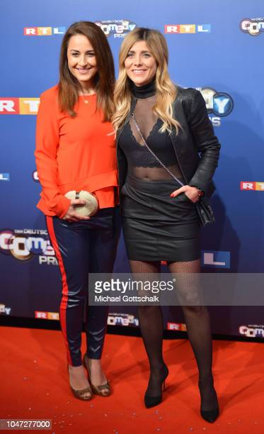 Nina Moghaddam and Panagiota Petridou attend the red carpet at the 22nd Annual German Comedy Awards at Studio in Koeln Muehlheim on October 7, 2018...