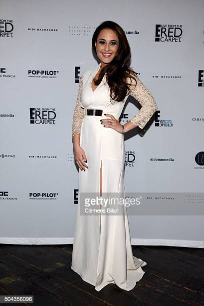 Nina Moghaddam attends E Red Carpet Influencer Suite promoting Live from the Red Carpet on german E Entertainment at Soho House on January 10 2016 in...