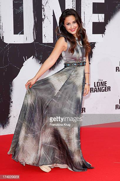 Nina Moghaddam attends 'Lone Ranger' Berlin Premiere at Sony Centre on July 19 2013 in Berlin Germany