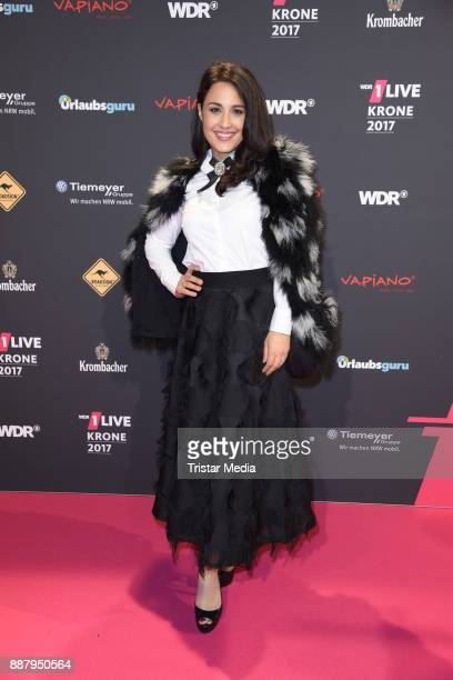 Nina Moghaddam attends the 1Live Krone radio award at Jahrhunderthalle on December 7 2017 in Bochum Germany