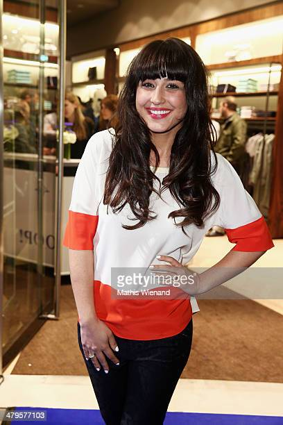 Nina Moghaddam attends the Joop Store Opening at Koe Bogen Dusseldorf on March 19 2014 in Dusseldorf Germany