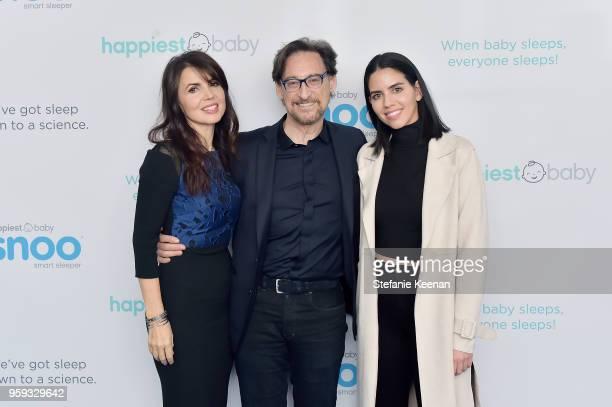 Nina Montee Karp Dr Harvey Karp and Gal Ozery attend Jessica Biel and Dr Harvey Karp Celebrate Moms Dads and their Favorite Helper the SNOO at Au...