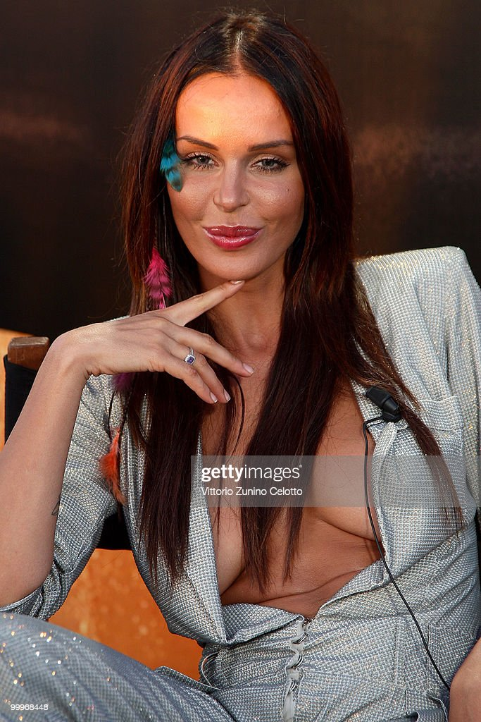 Nina Moric Attends The Stalking Press Meeting Hosted By Lancia Aboard The Signora
