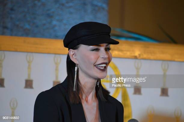 Nina Moric Croatian model and show girl was a celebrity guest at the ST Oscar of Fashion at Palazzo Caracciolo in Naples