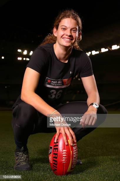 Nina Morrison poses during the AFLW Draft Combine at Etihad Stadium on October 2 2018 in Melbourne Australia