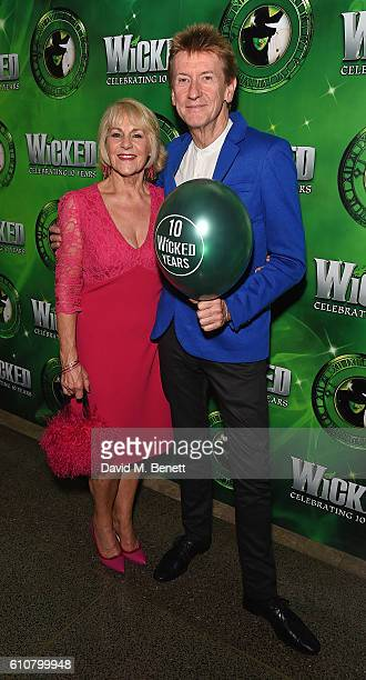 Nina Myskow and Grant McCahon attend the after party for hit musical Wicked celebrating 10 years in the West End on September 27 2016 in London...