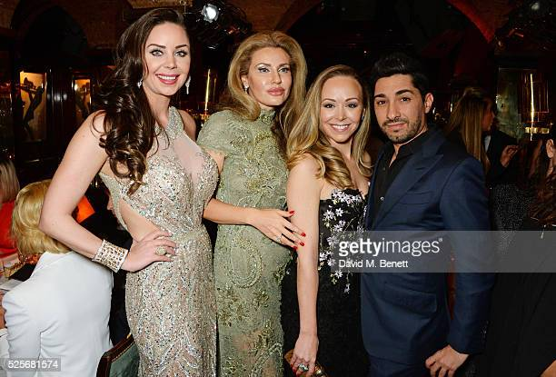 Nina Naustdal Alexandra Shishlova Tamara Ralph and Michael Russo attend a private dinner hosted by Fawaz Gruosi founder of de Grisogono at Annabels...