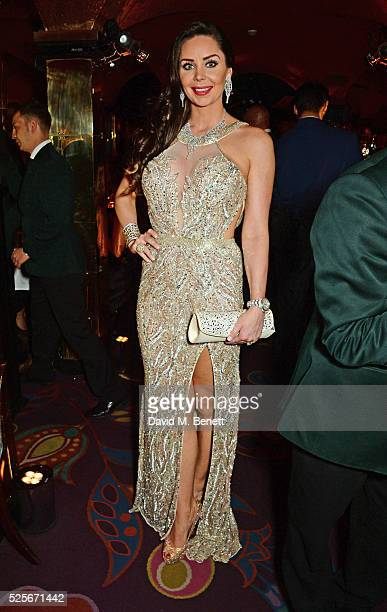 Nina Naustdal attends a private dinner hosted by Fawaz Gruosi founder of de Grisogono at Annabels on April 28 2016 in London England