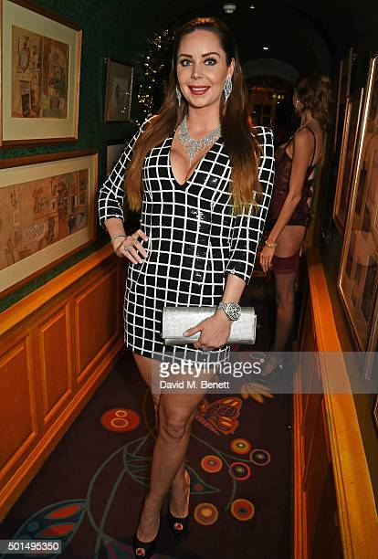 Nina Naustdal attends the David Morris and Agent Provocateur drinks reception hosted by Jeremy Morris and Lisa Tchenguiz at Annabel's on December 15...