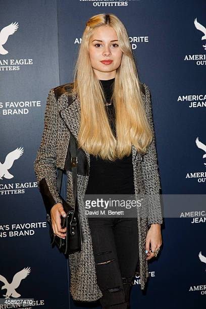 Nina Nesbitt attends the American Eagle Outfitters VIP store launch at Westfield London on November 13 2014 in London England