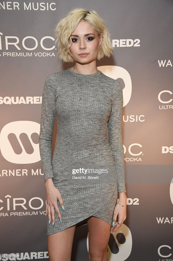 Nina Nesbitt attends the Warner Music Group & Ciroc Vodka Brit Awards after party at Freemasons Hall on February 24, 2016 in London, England.